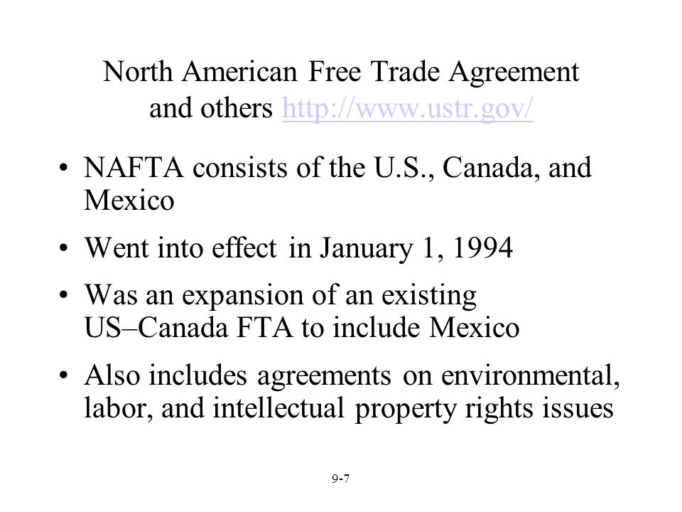 nafta and term paper Nafta is a multilateral free trade agreement between the united states, canada and mexico when it came into effect on 1994, it created world's largest free trade zone it was intended to increase the international relations between these countries by eliminating most tariff and non tariff barriers to investment and trade.