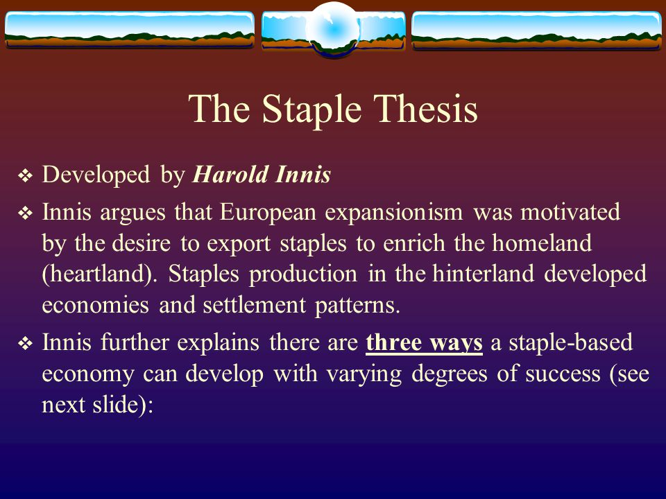 staples thesis innis