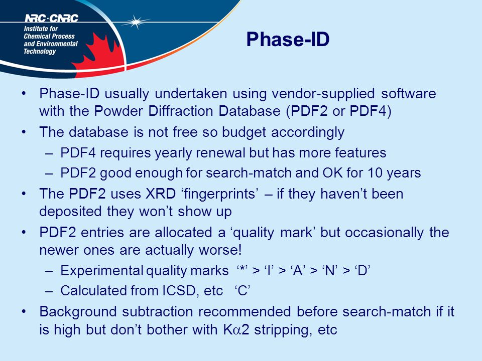 Sample Preparation, Data Collection and Phase-ID using