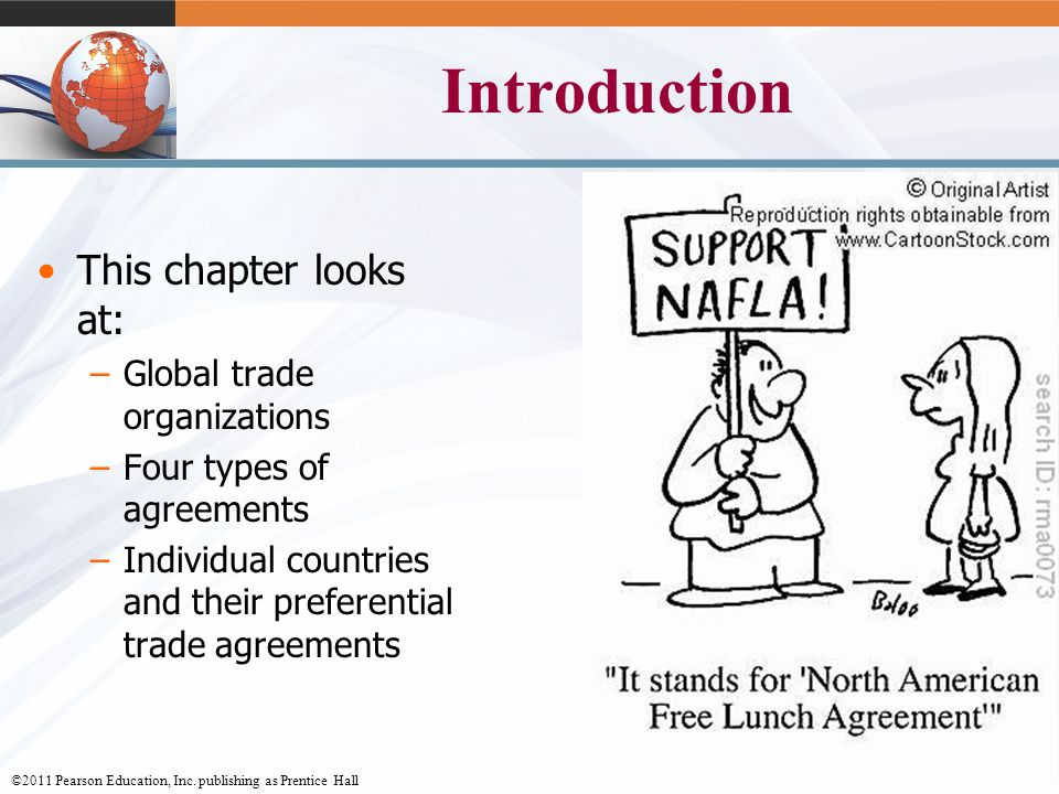 Introduction This chapter looks at: Global trade organizations