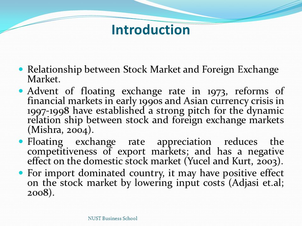 Introduction Relationship Between Stock Market And Foreign Exchange