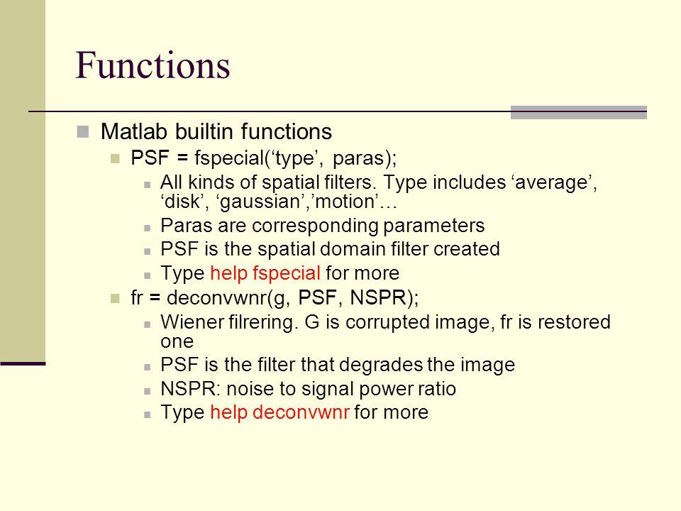 Fspecial Matlab