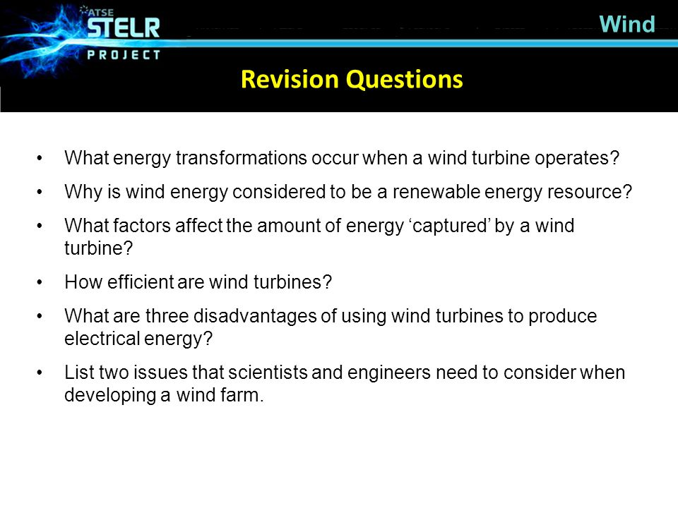 Revision Questions Wind