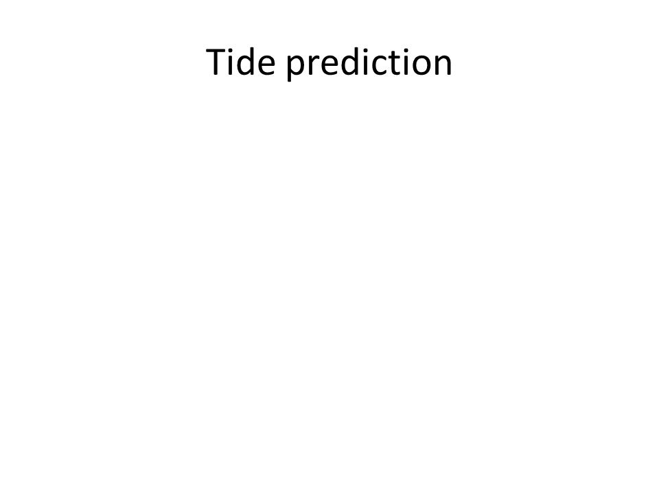 Tide prediction