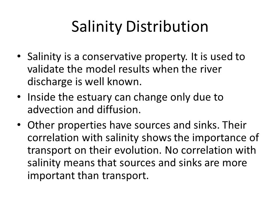 Salinity Distribution