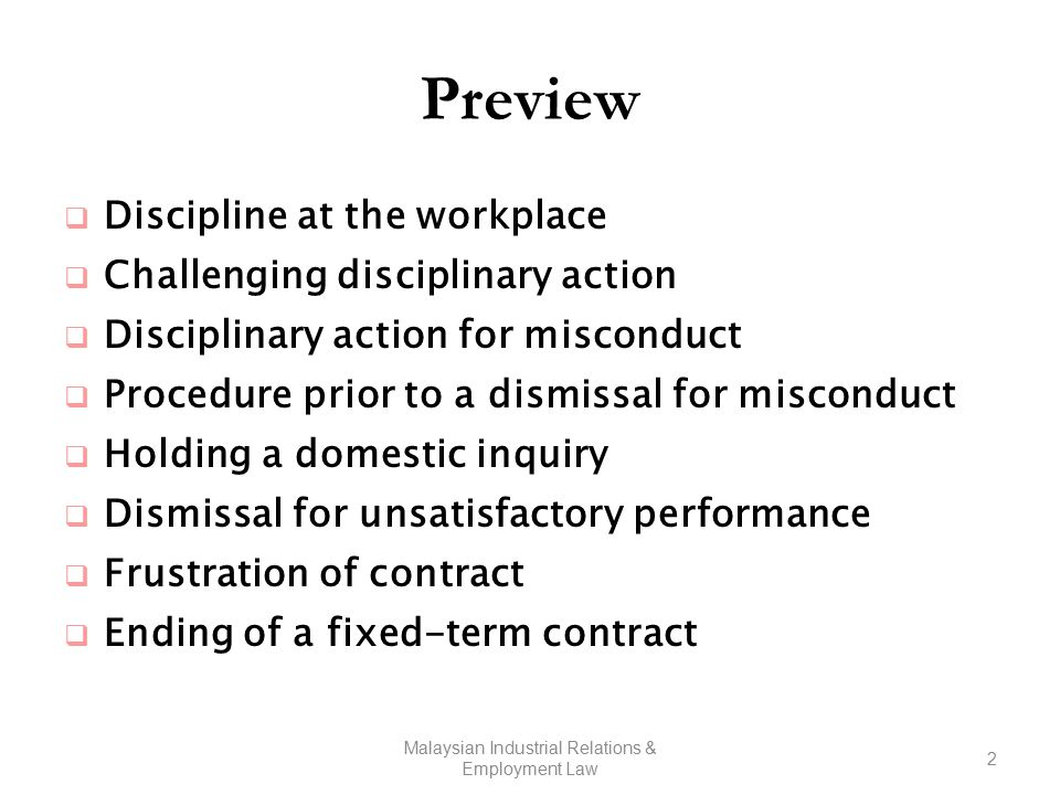 Approaches to workplace discipline industrial relations.