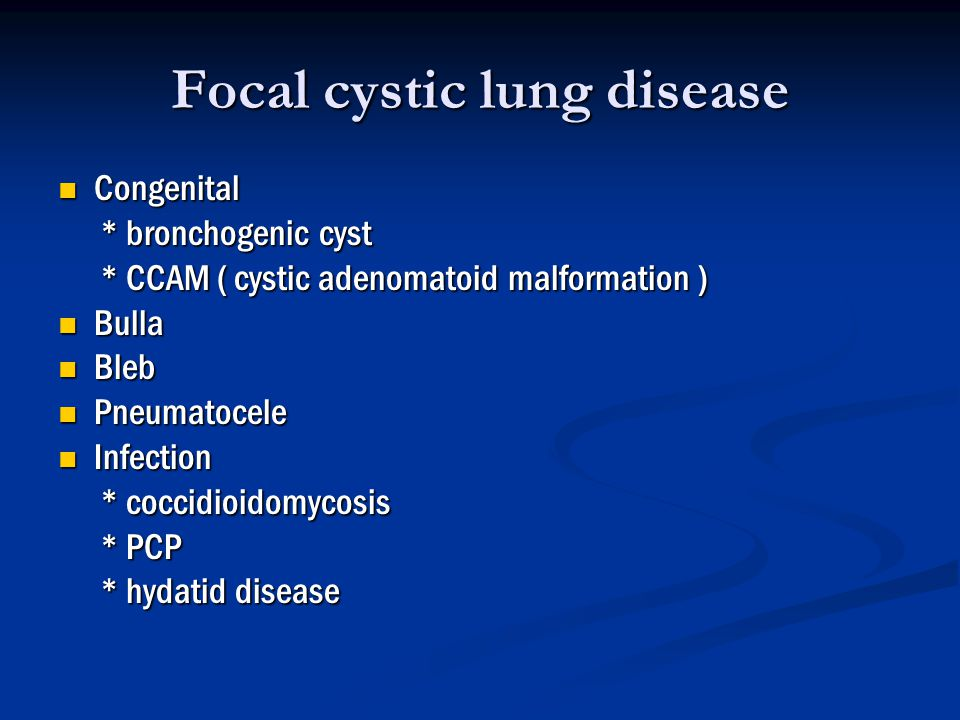 Focal cystic lung disease