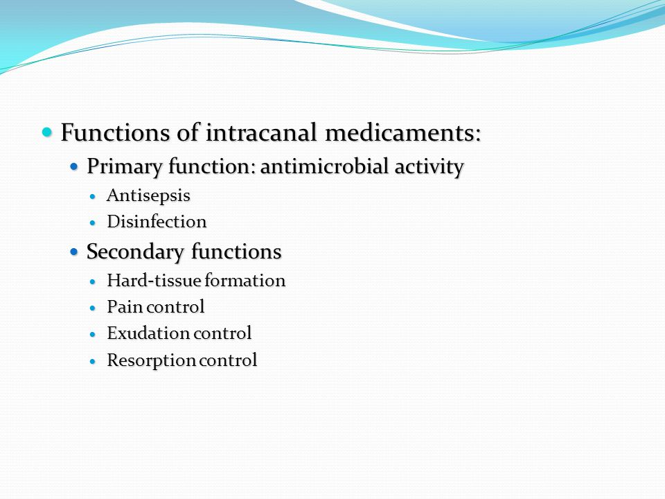 Endodontic Materials: Root canal irrigants and medicaments - ppt