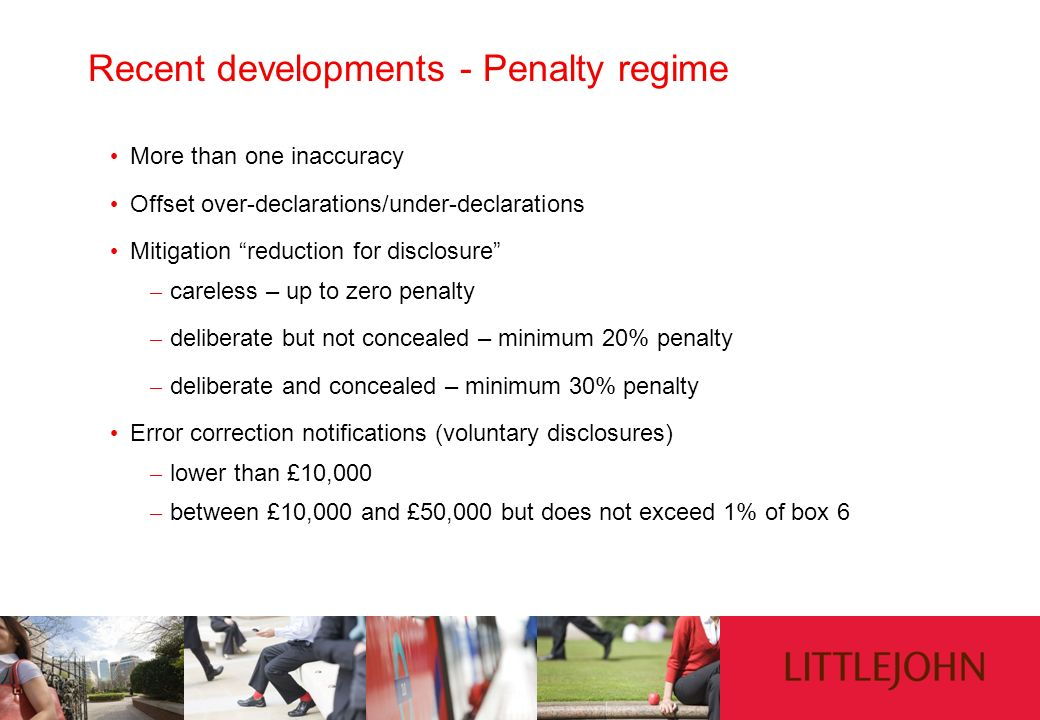 Recent developments - Penalty regime