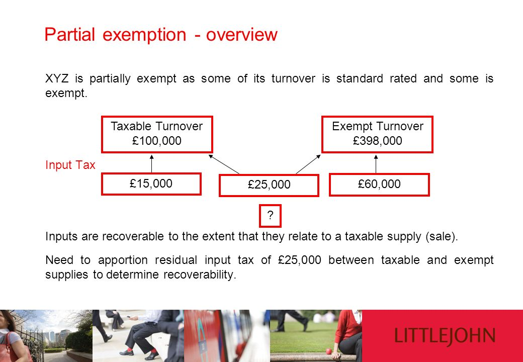 Partial exemption - overview