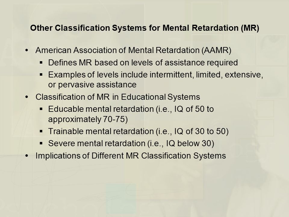 mental retardation examples