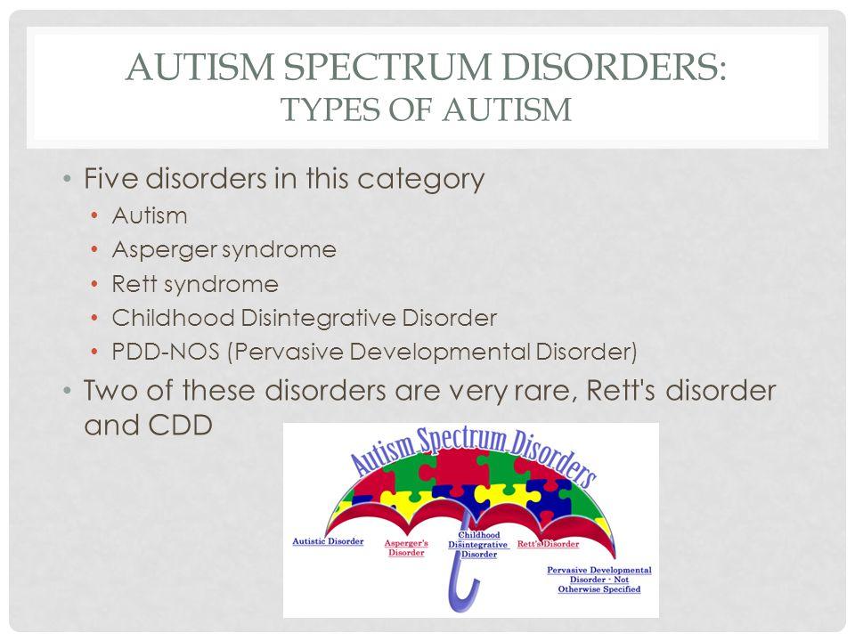 types of autism spectrum disorder