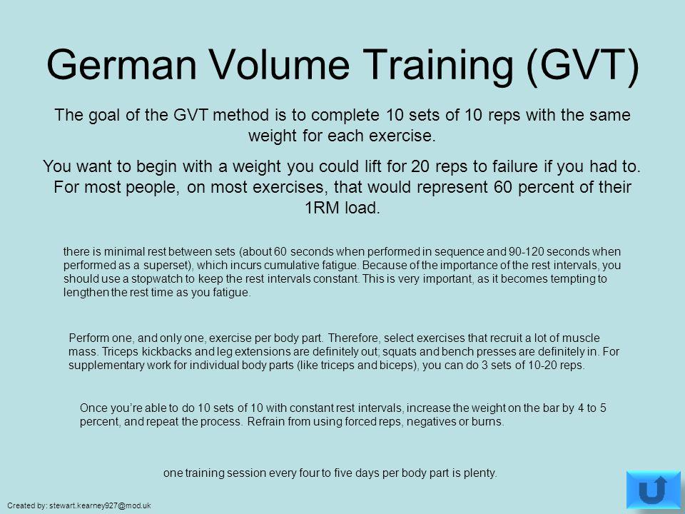 German Volume Training - ppt video online download