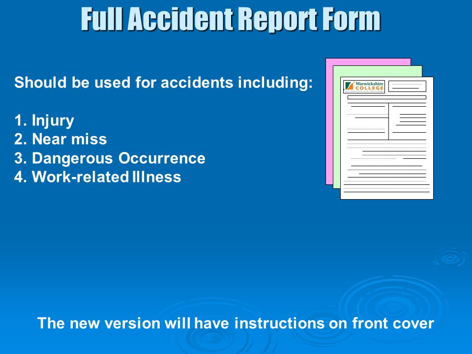 Full Accident Report Form