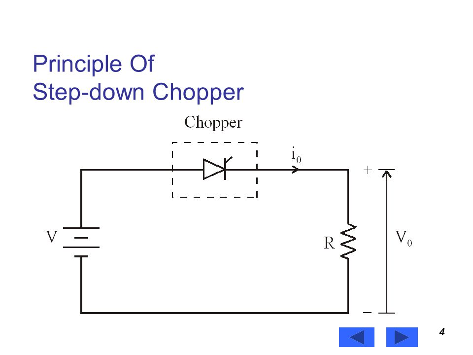 Principle Of Step-down Chopper