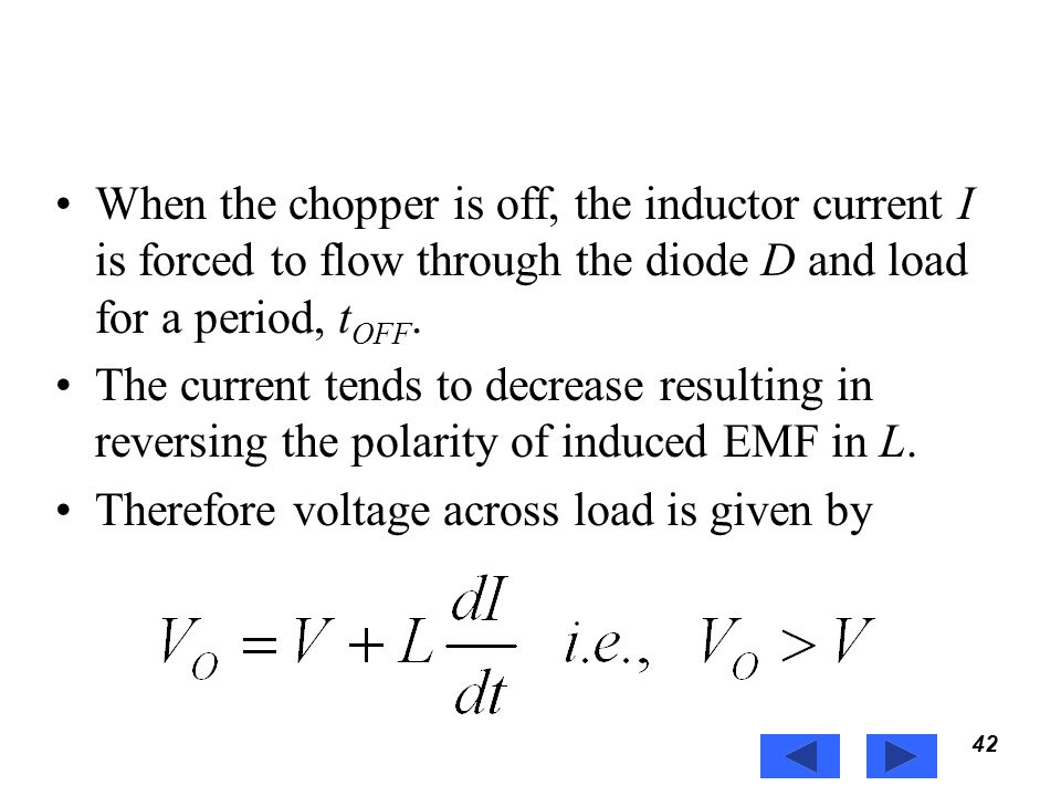 Therefore voltage across load is given by