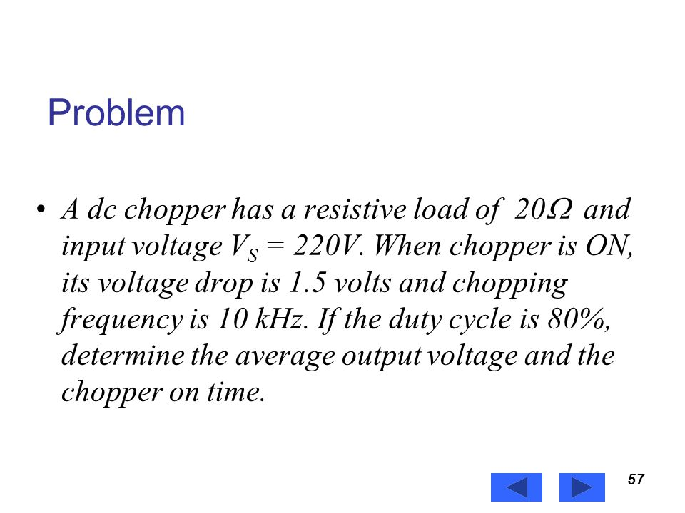 Power Electronics Problem.