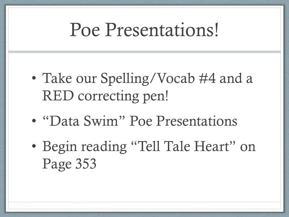 Tell Tale Heart. - ppt video online download
