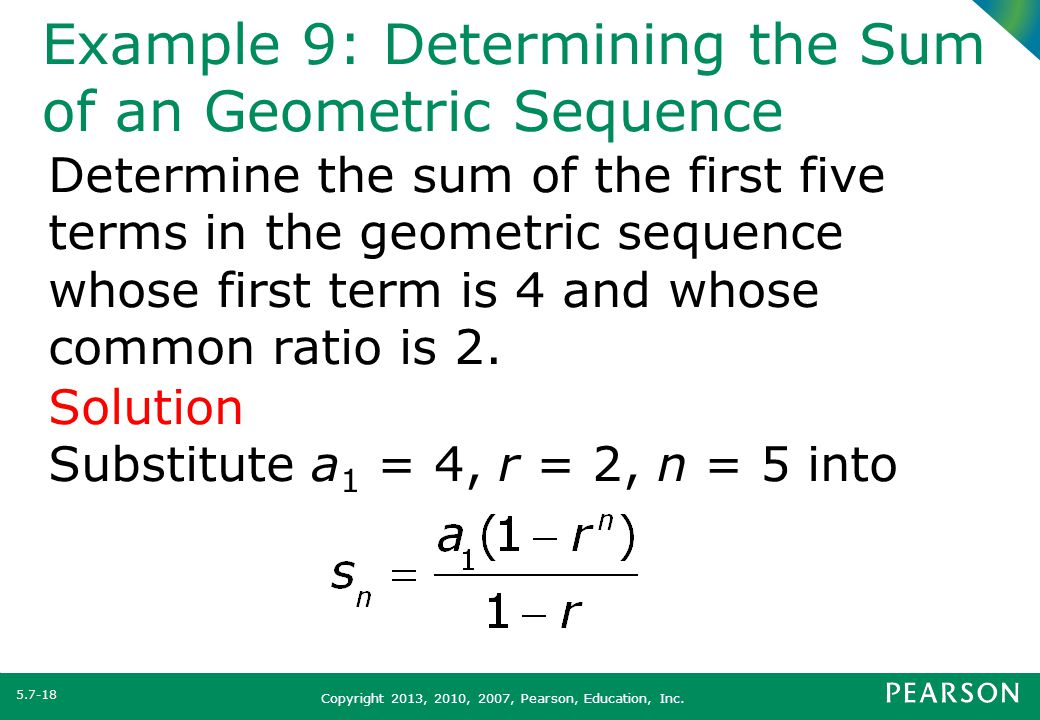 Section 5 7 Arithmetic and Geometric Sequences - ppt video