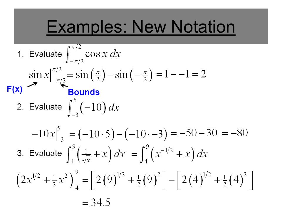 Examples: New Notation