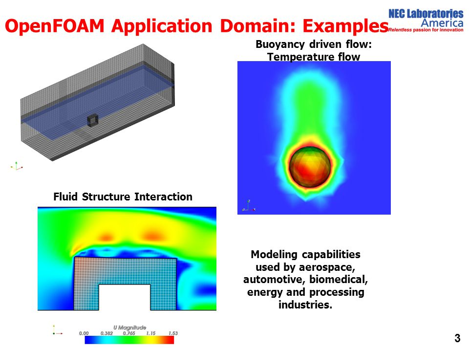 OpenFOAM Application Domain: Examples