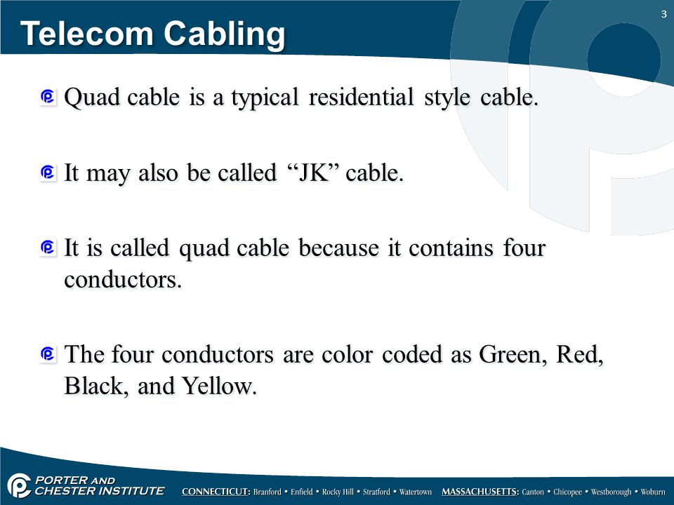 Telecommunications cable types - ppt video online download