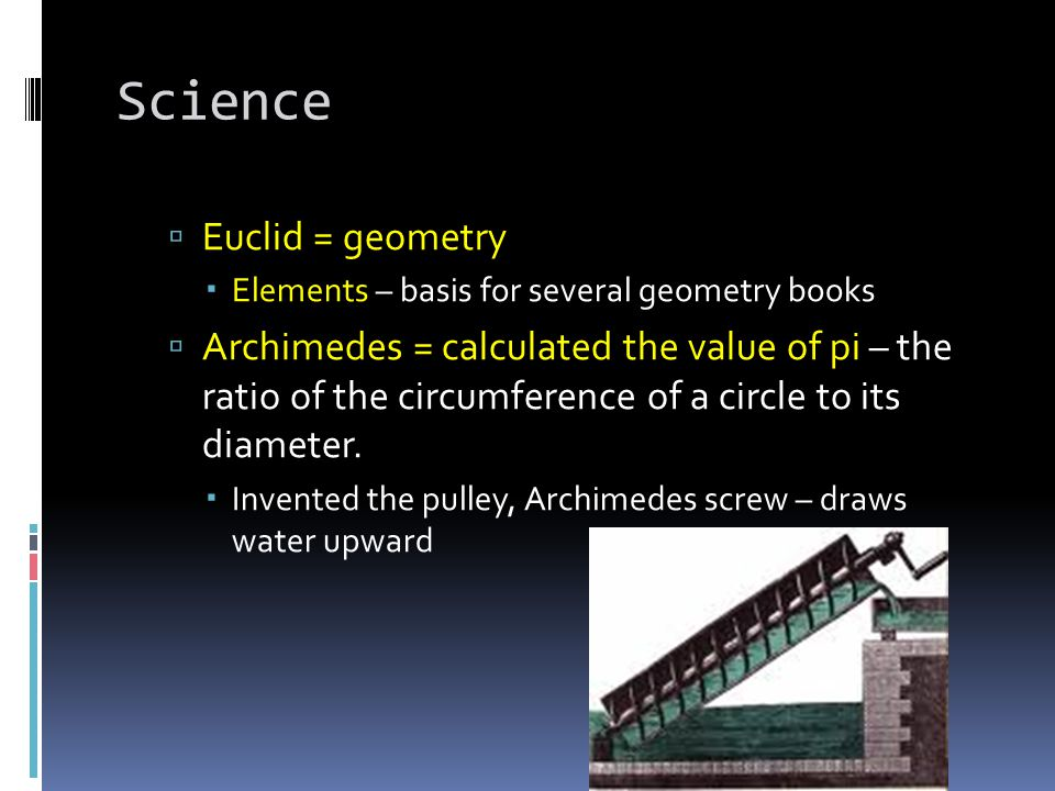 Science Euclid = geometry
