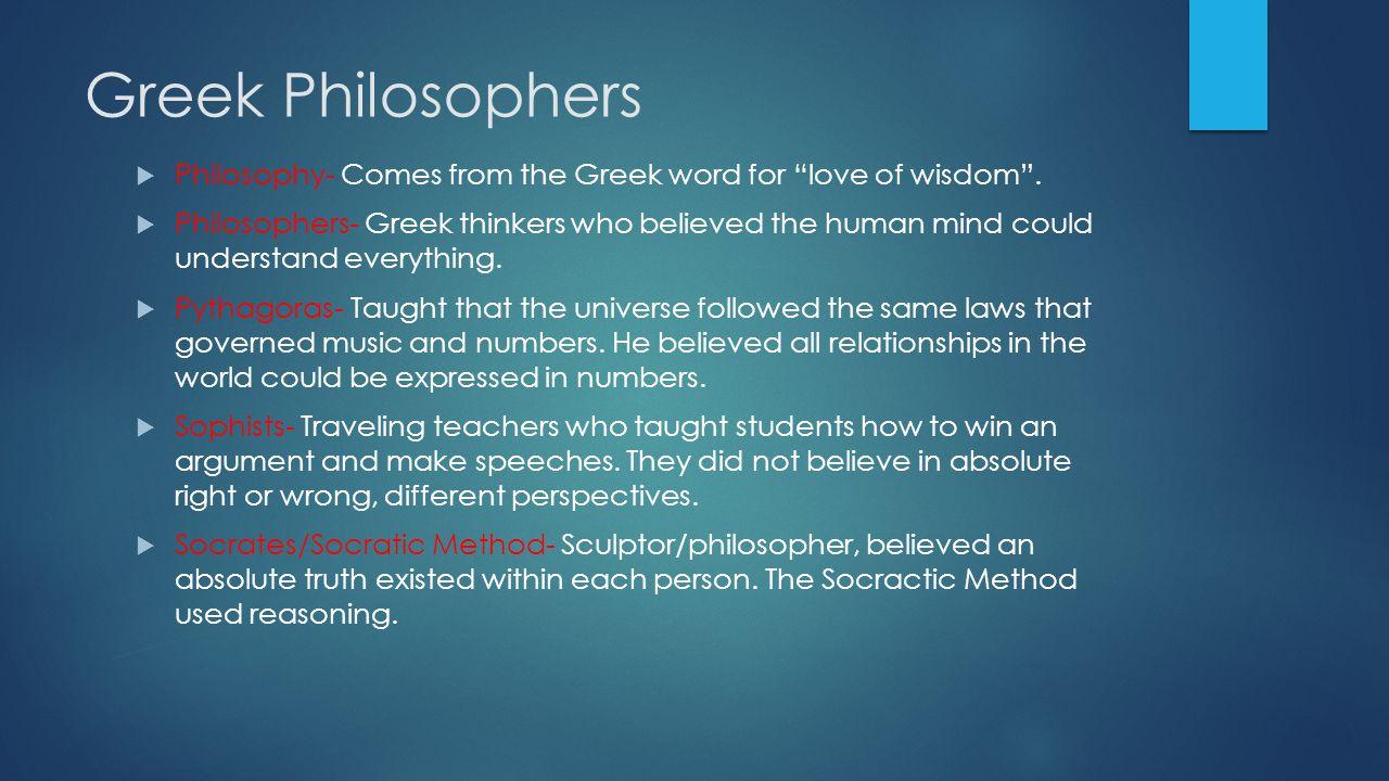 Greek Philosophers