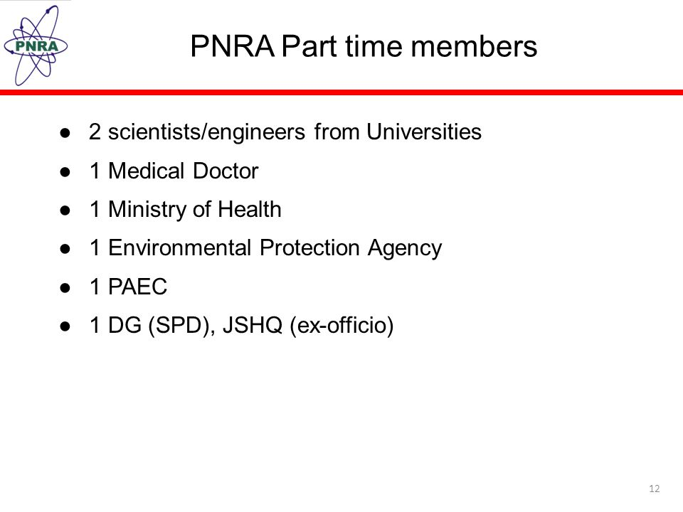 PNRA Part time members 2 scientists/engineers from Universities