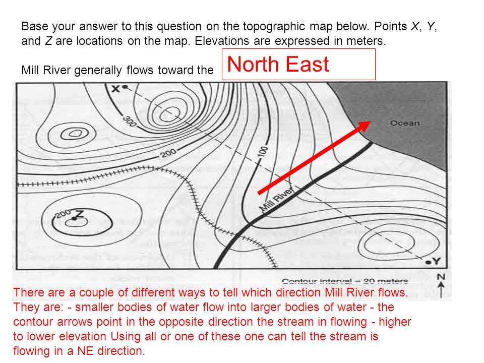 """Do Now Write out the """"Rules for Isolines"""" in your Do Now Section Direction Of River Flow On Topographic Map on"""