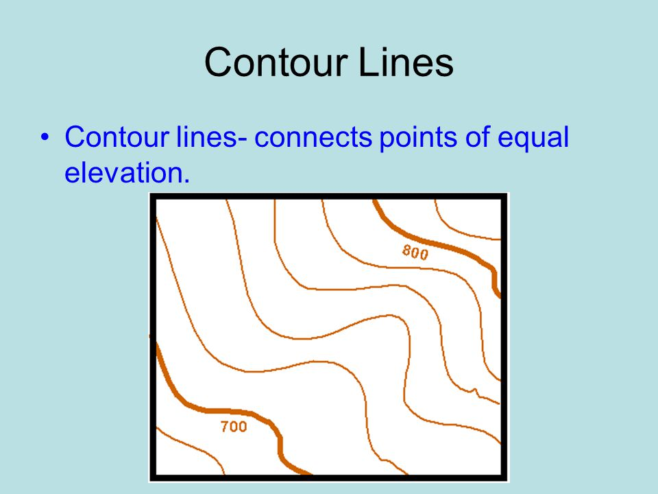 Contour Lines On A Topographic Map Connect.Topographic Maps Topographic Maps Ppt Video Online Download