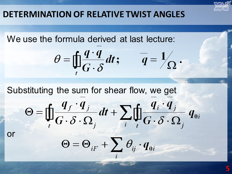DETERMINATION OF RELATIVE TWIST ANGLES