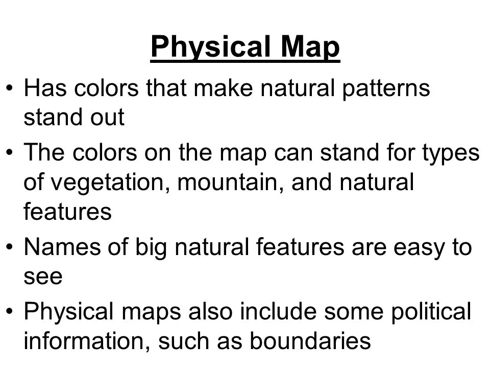 Eq How Does One Distinguish Between The Different Types Of Maps
