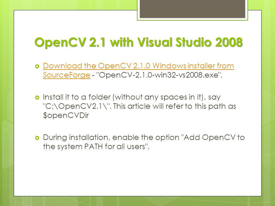 OpenCV Training course - ppt video online download