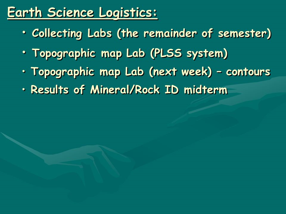 Earth Science Logistics Collecting Labs The Remainder Of Semester