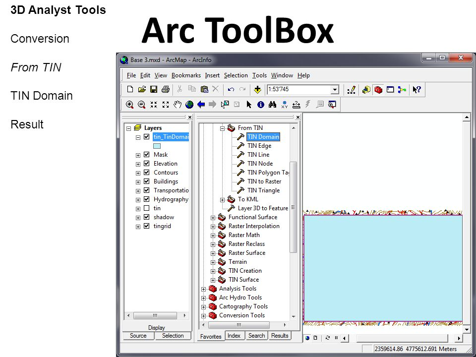 Using ESRI ArcGIS 9 3 Arc ToolBox 2 (3D Analyst) - ppt video