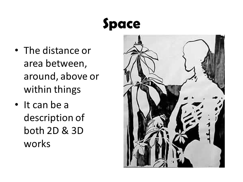 Space The distance or area between, around, above or within things