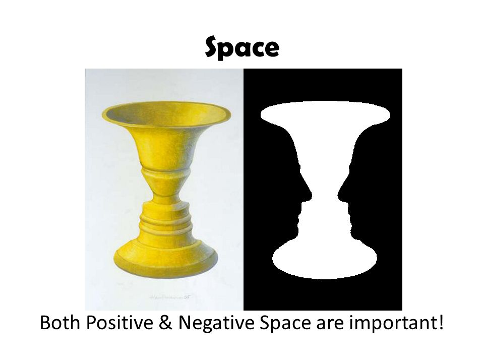 Both Positive & Negative Space are important!