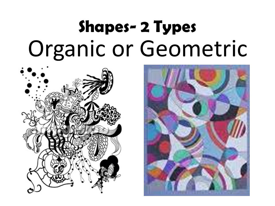 Shapes- 2 Types Organic or Geometric