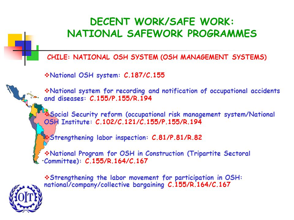 DECENT WORK/SAFE WORK: NATIONAL SAFEWORK PROGRAMMES