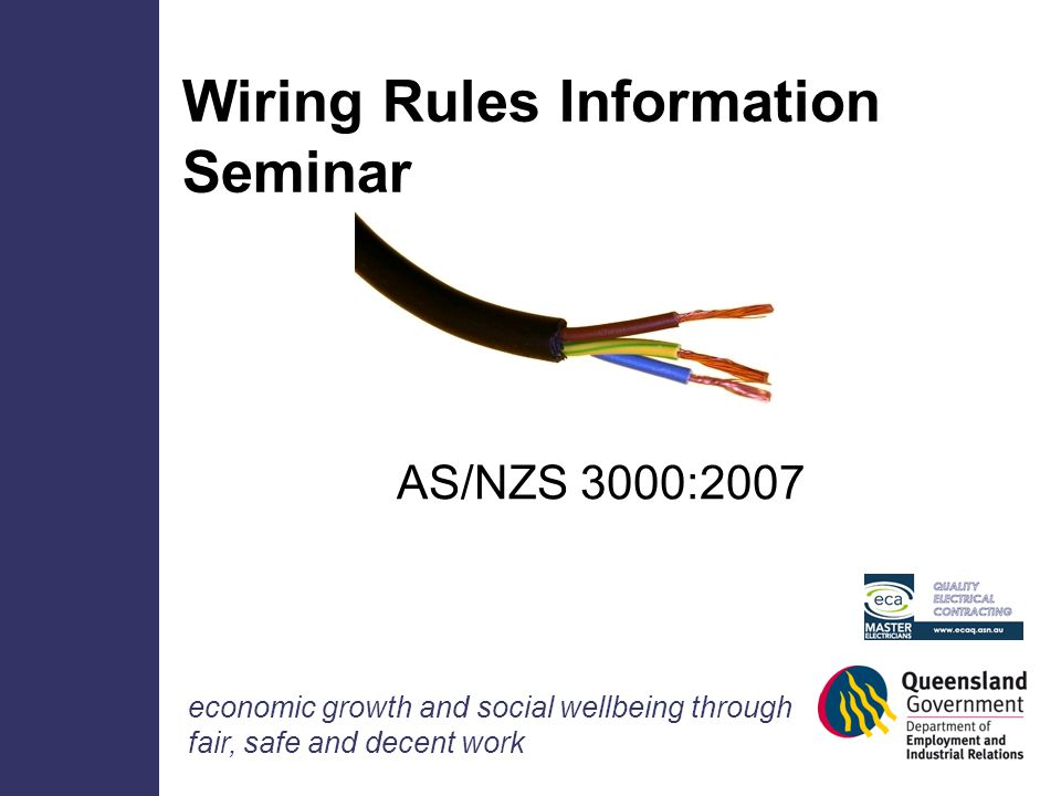 wiring rules information seminar ppt download rh slideplayer com australian standard wiring rules book australian standard wiring rules book