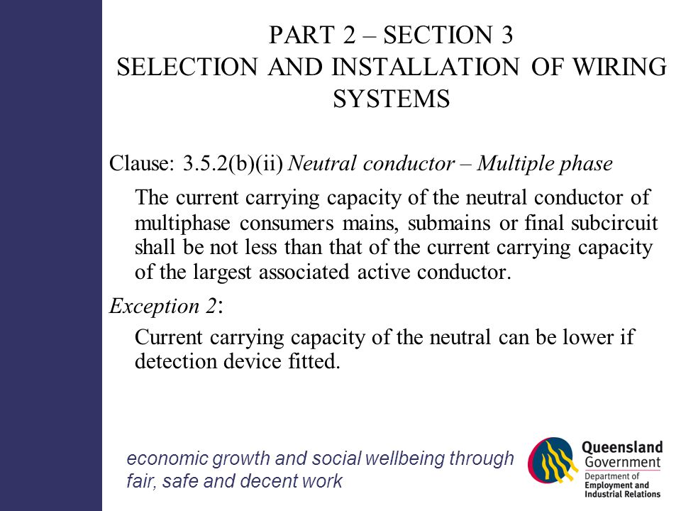 Wiring rules information seminar ppt download part 2 section 3 selection and installation of wiring systems greentooth