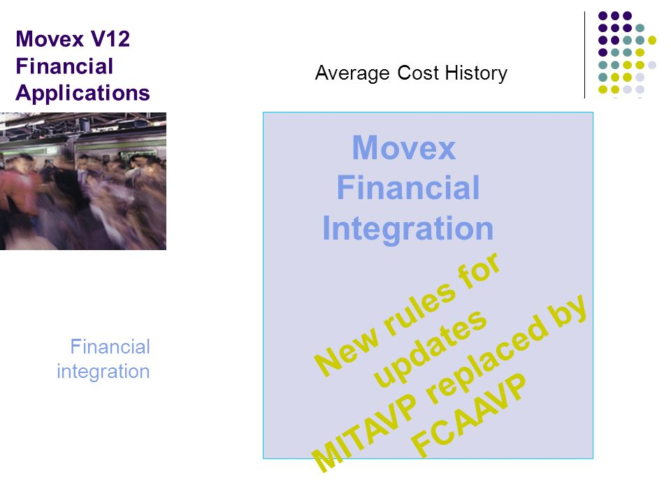 Movex V12 Financial Applications