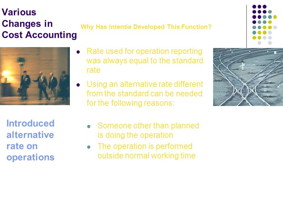 Various Changes in Cost Accounting