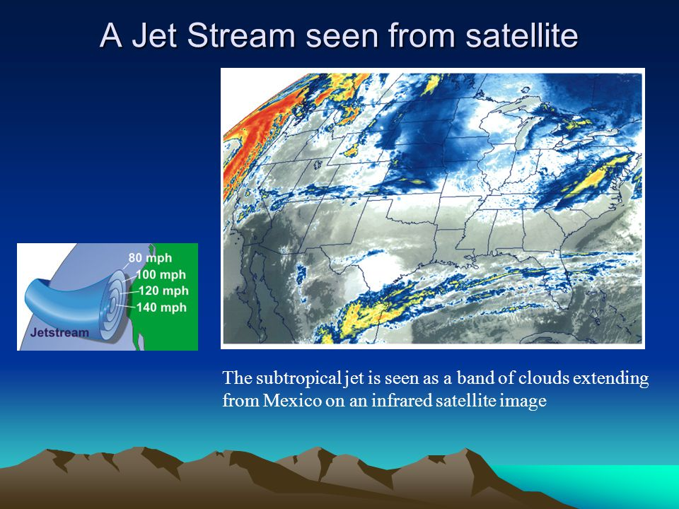 A Jet Stream seen from satellite