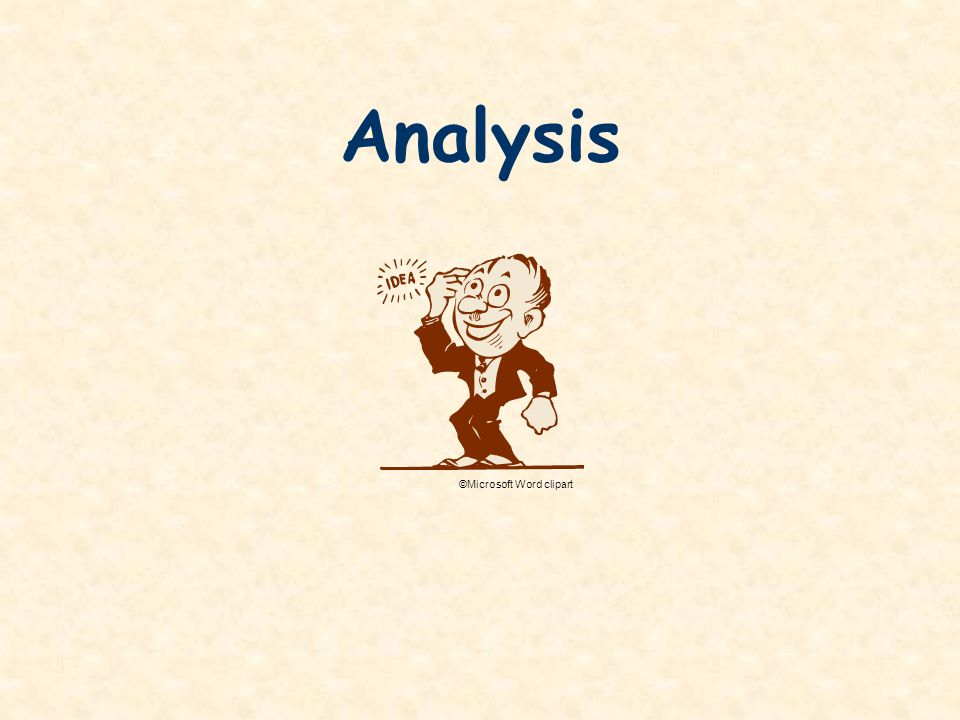 Analysis ©Microsoft Word clipart