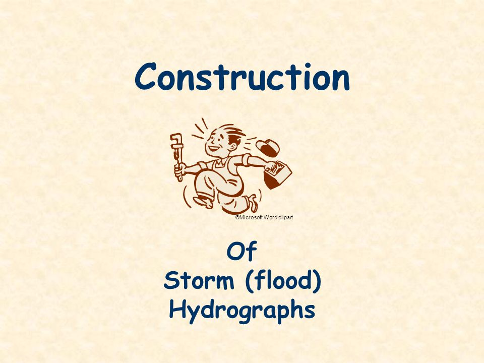 Storm (flood) Hydrographs