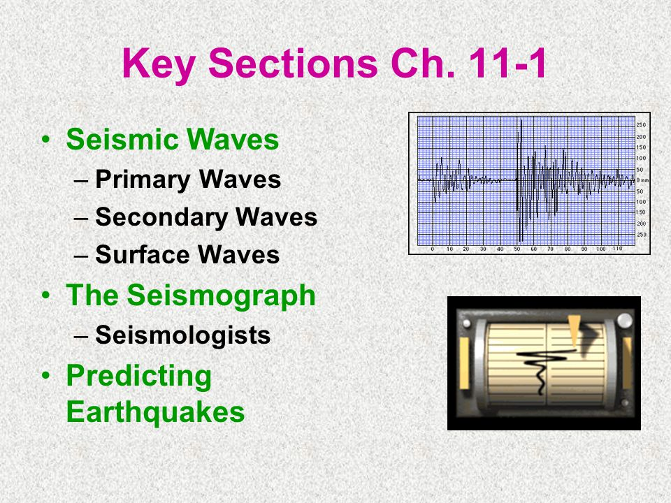 Key Sections Ch Seismic Waves The Seismograph