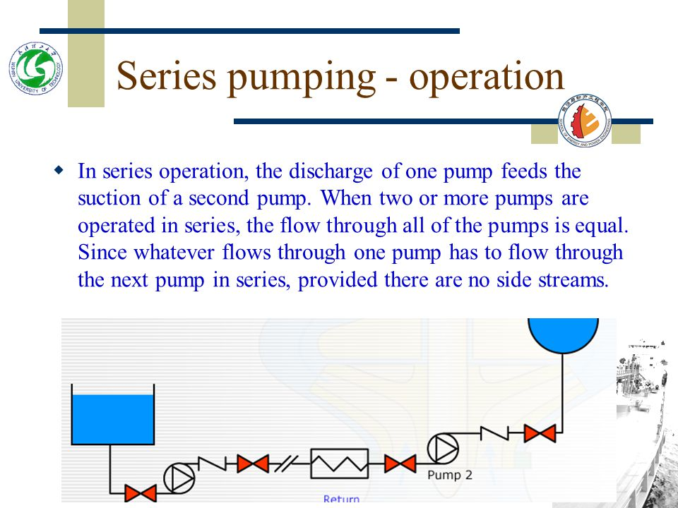 Series pumping - operation
