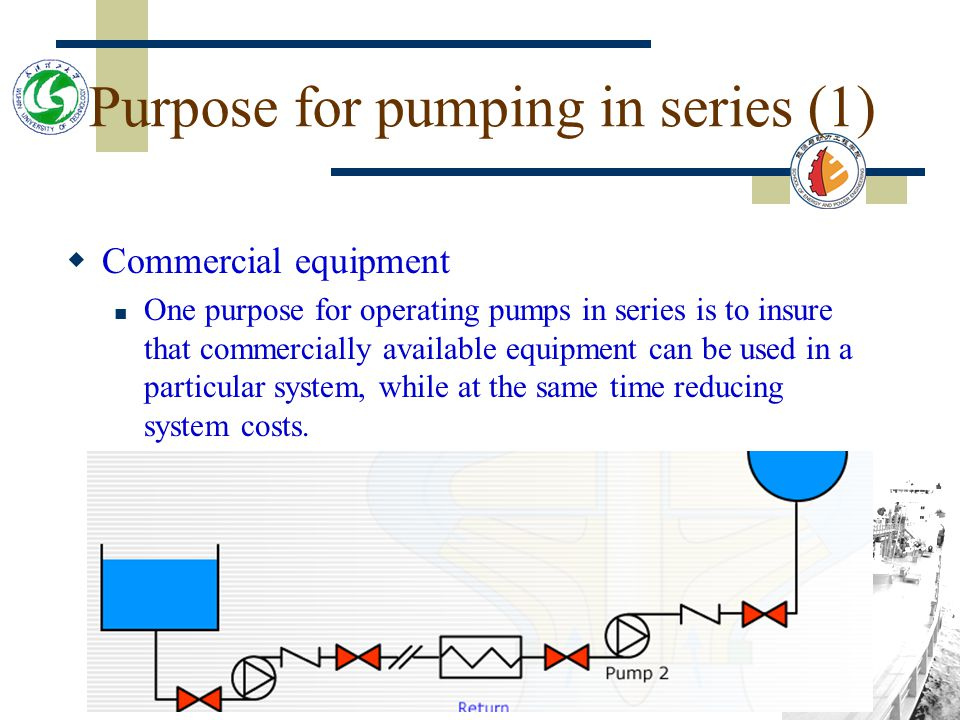 Purpose for pumping in series (1)